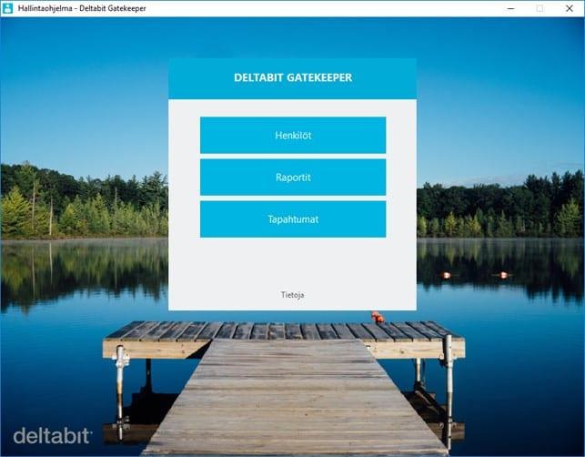 Deltabit Gatekeeper -kulunvalvonta hallintaohjelma