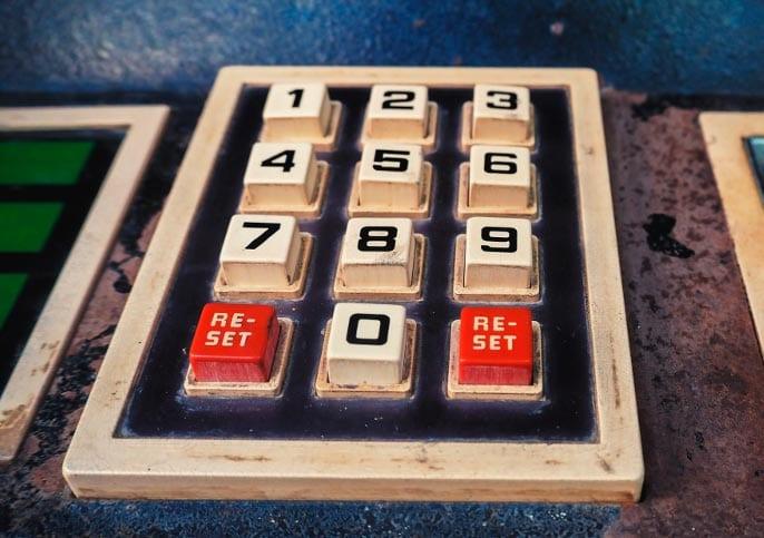 Kuva numeronäppäimistöstä